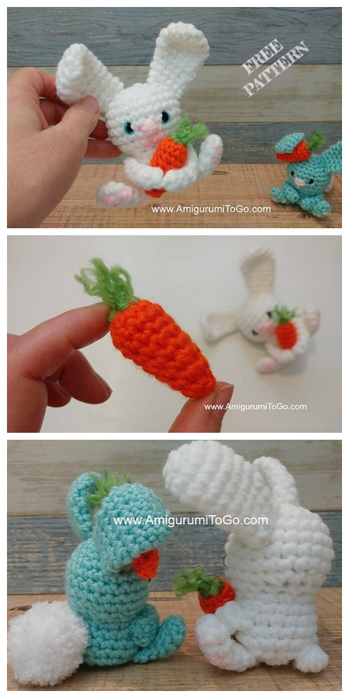 Crochet Carrot Bunny Amigurumi Free Patterns