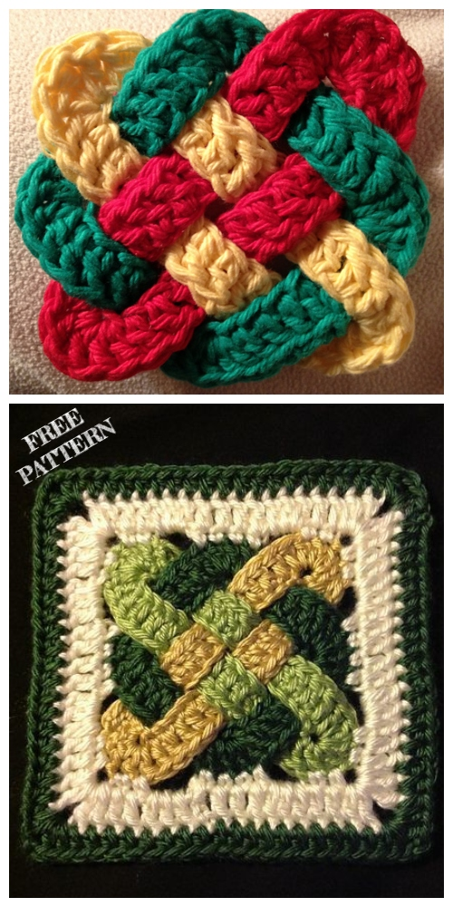 Crochet Celtic Knot Square Free Crochet Pattern