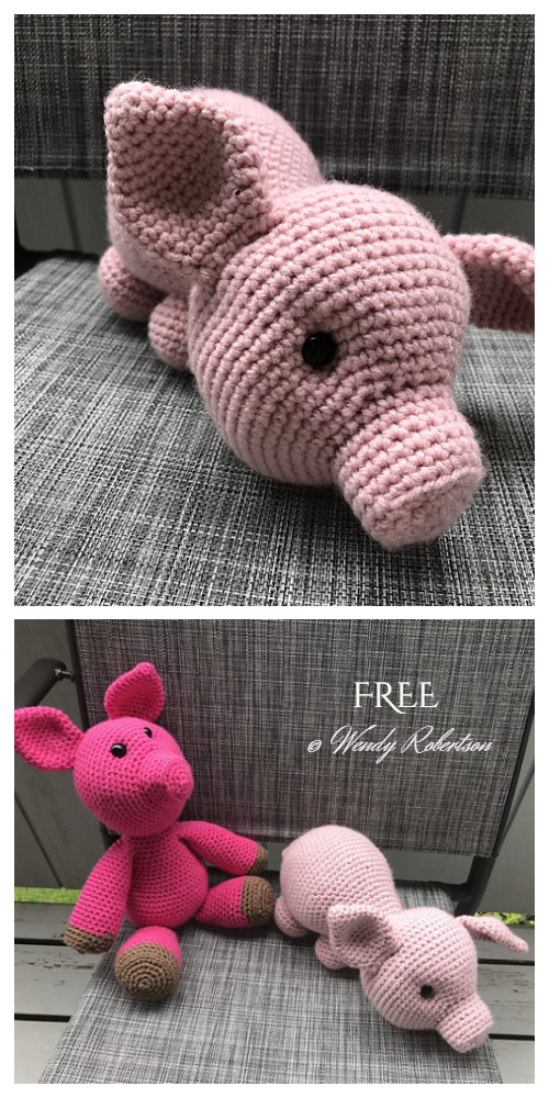 Crochet Cuddle Pig Amigurumi Free Patterns