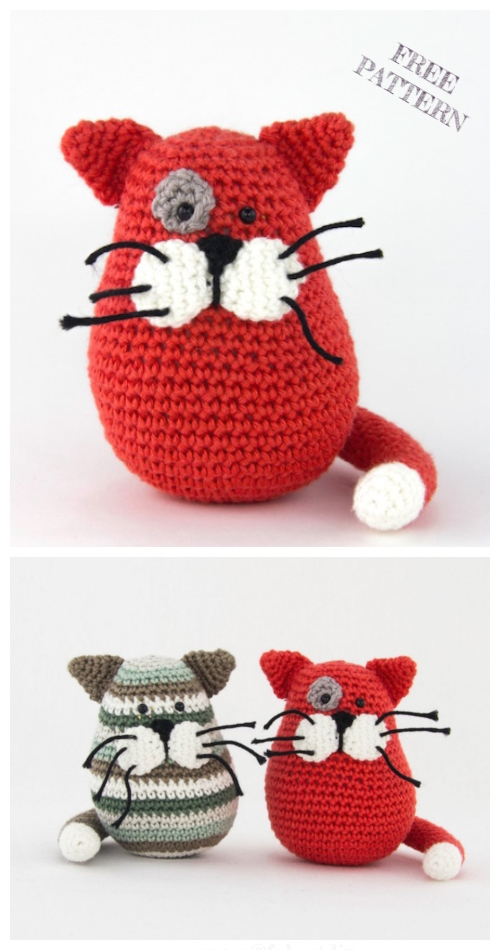 Crochet Crumb Cat Kitty Amigurumi Free Pattern