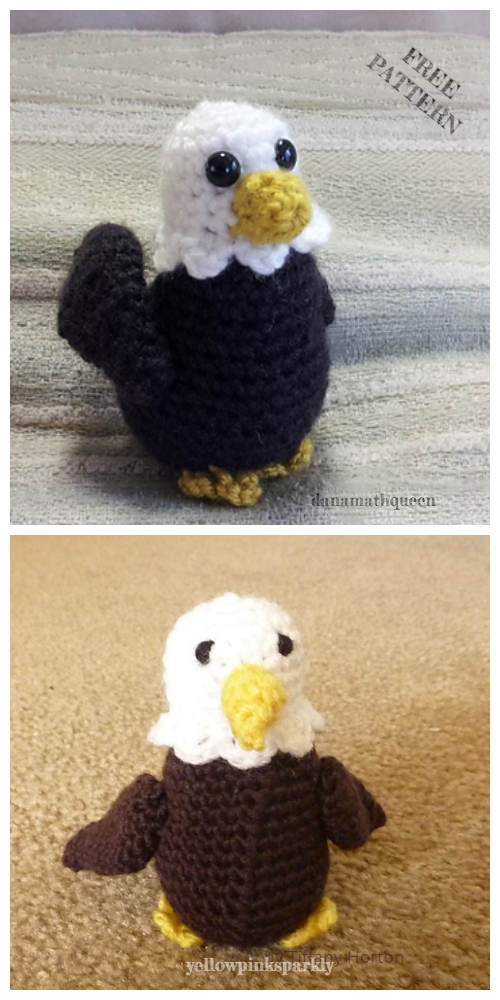 Crochet Bald Eagle Amigurumi Free Patterns