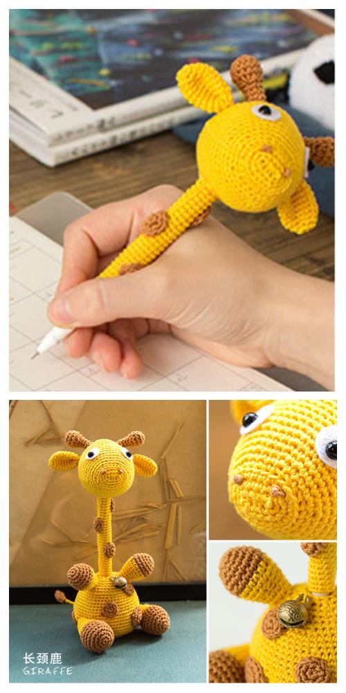 Crochet Giraffe Pen Amigurumi Free Pattern