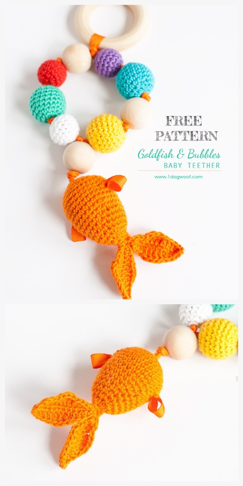 Crochet Goldfish Teether Amigurumi Free Patterns