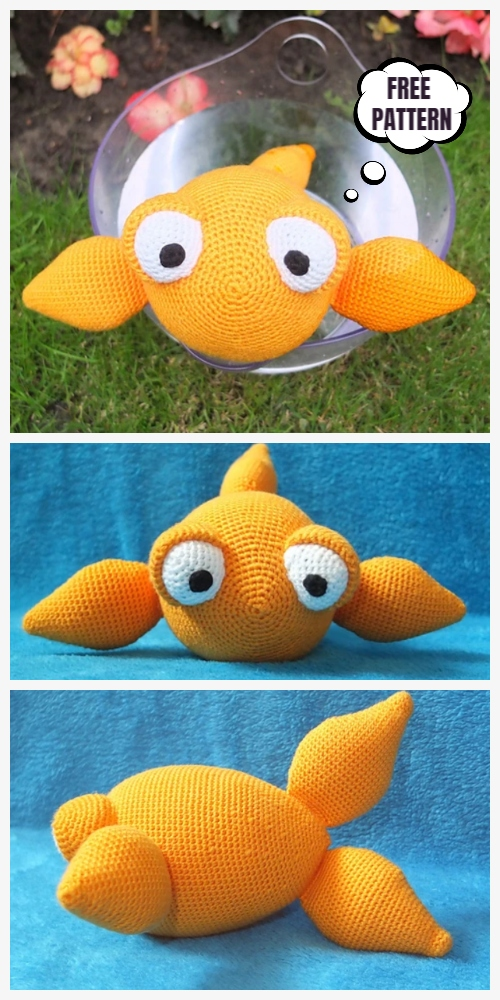 Crochet Rudi Goldfish Amigurumi Free Patterns