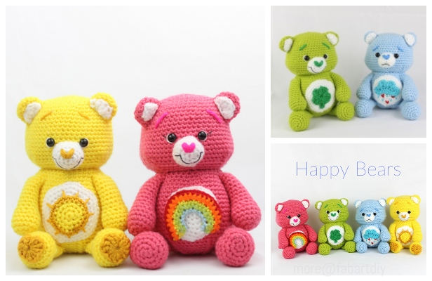 Baby Knitting Patterns Amigurumi Crochet Sleepy Bear Free Pattern ... | 400x616