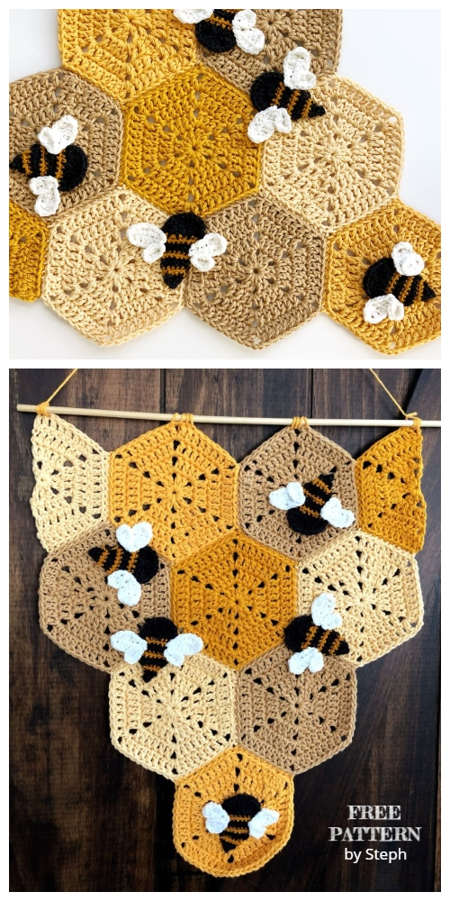 Crochet Honeycomb Banner Free Crochet Pattern