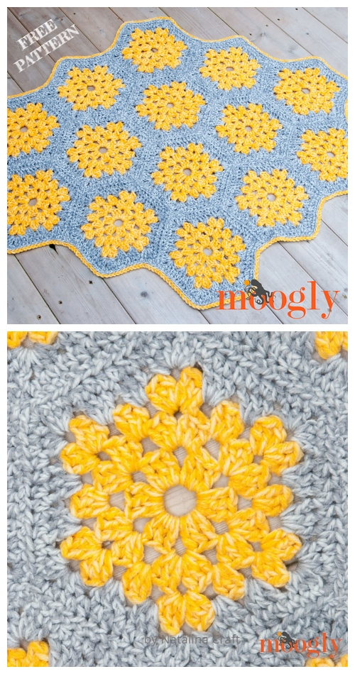 Crochet Honey Bee Rug Free Crochet Pattern