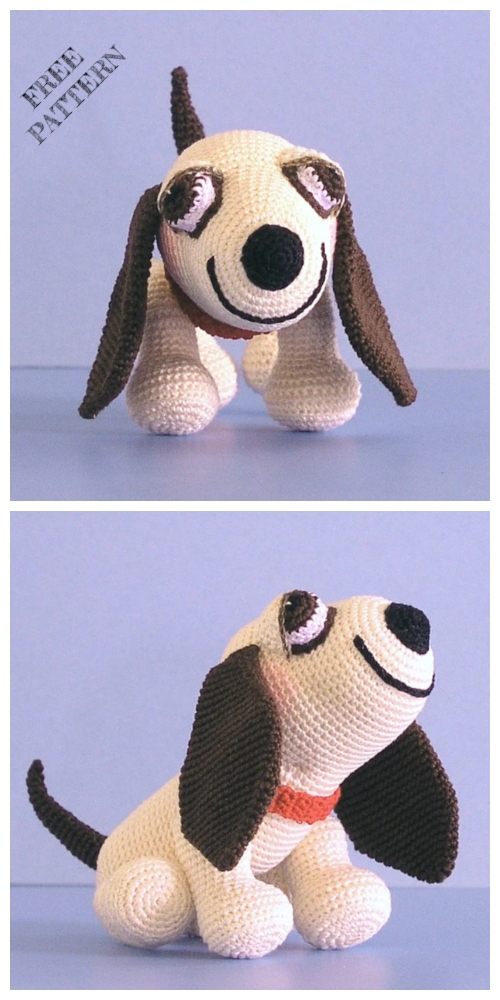 Crochet Hound Dog Amigurumi Free Pattern