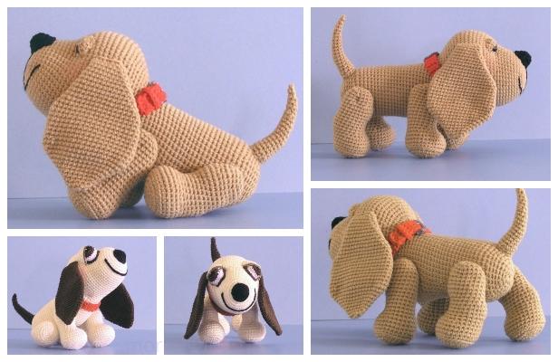 Dachshund dog free crochet amigurumi pattern – Ronja's Ami Friends | 400x616