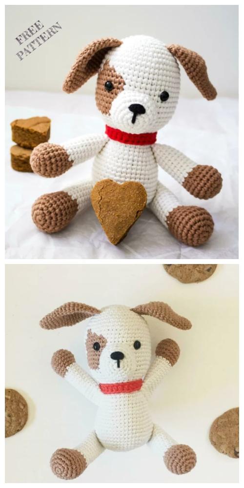 Crochet Patch Puppy Chip Amigurumi Free Pattern