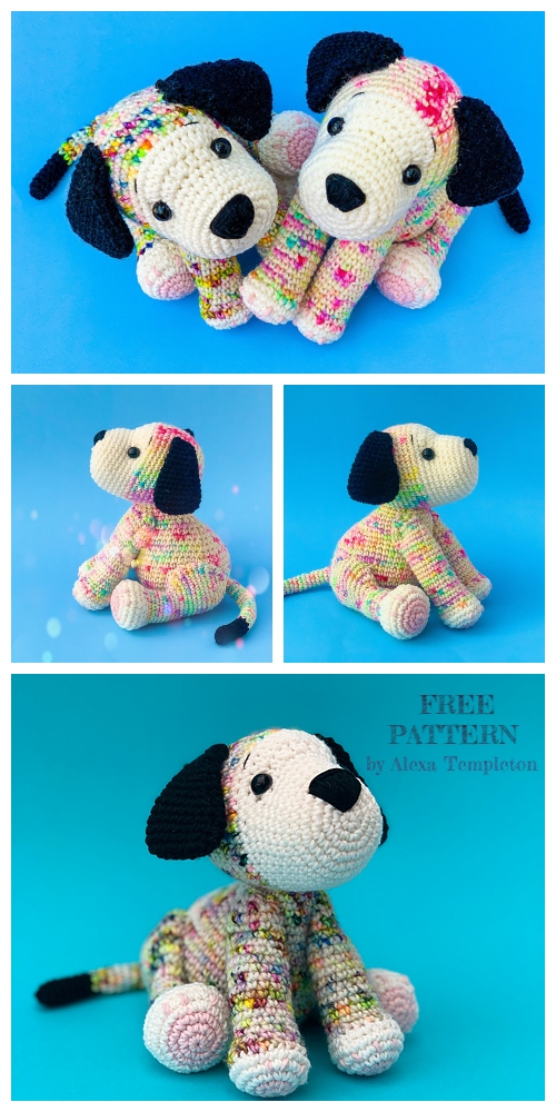 Crochet Rainbow Puppy Dog Amigurumi Free Patterns