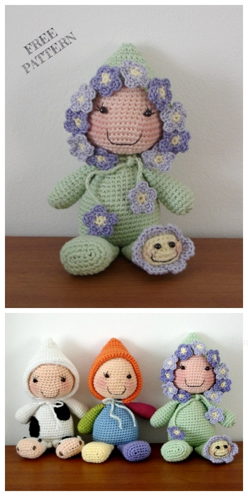 Crochet Sleeping Doll Amigurumi Free Pattern