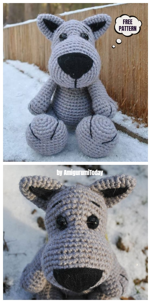 Crochet Wolf Amigurumi Free Patterns