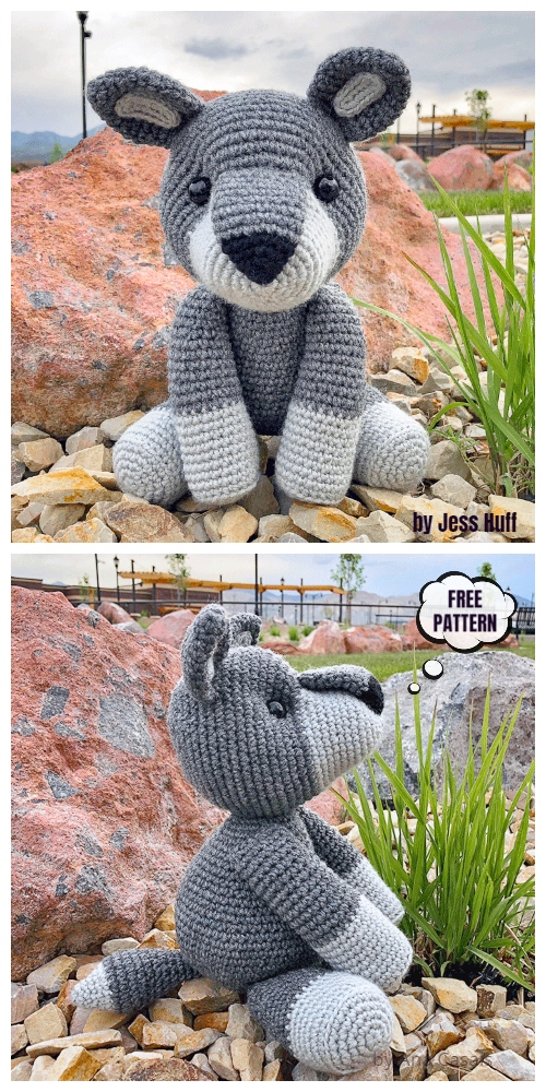 Crochet Walter the Wolf Amigurumi Free Patterns