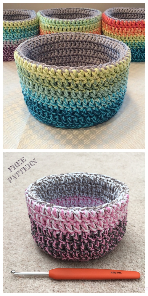 Crochet Double Double Basket Free Crochet Patterns