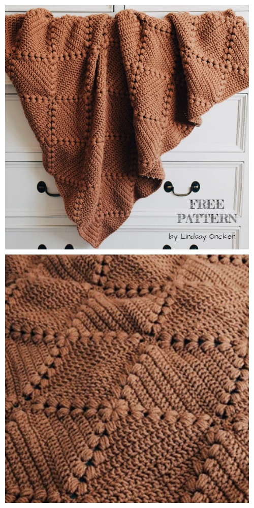 Farmhouse Granny Square Blanket Free Crochet Pattern + Video