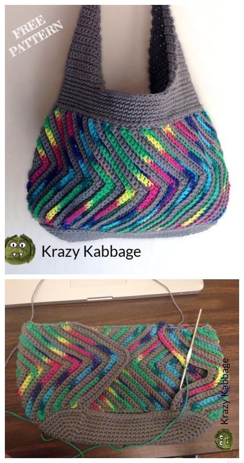 Crochet Fast-forward Chevron Purse Free Crochet Pattern