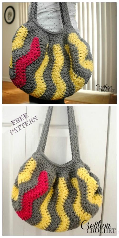 Crochet Vertical Chevron Bag Free Crochet Pattern