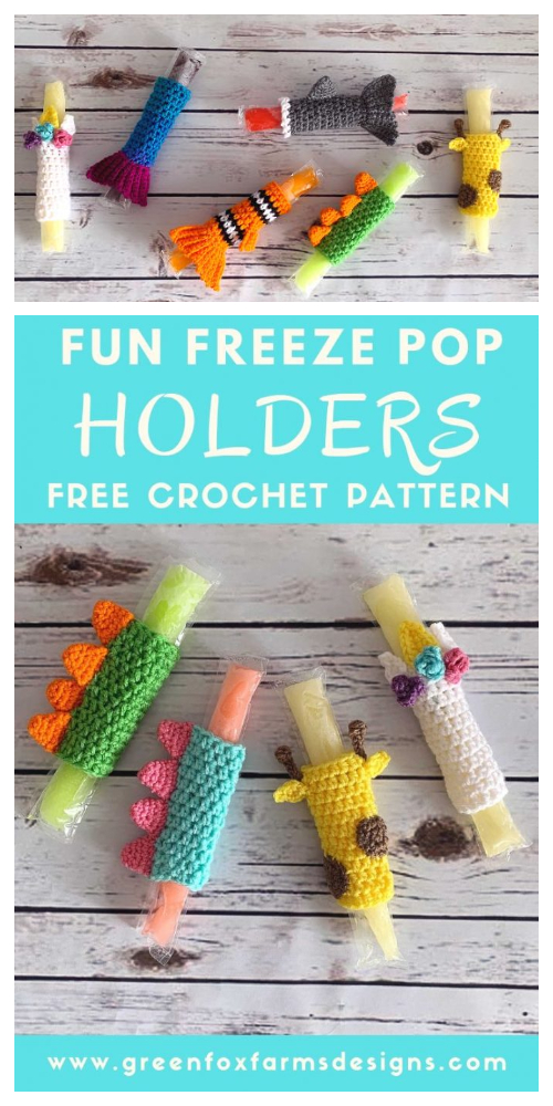 Fun Ice Pop Holder Free Crochet Patterns