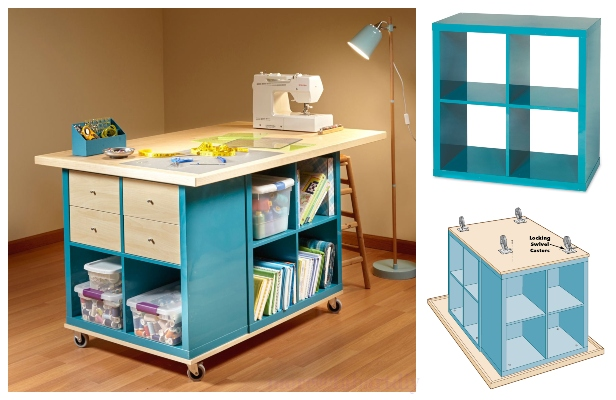 Ikea Kallax Cube Craft Table Diy Tutorial Diy Magazine