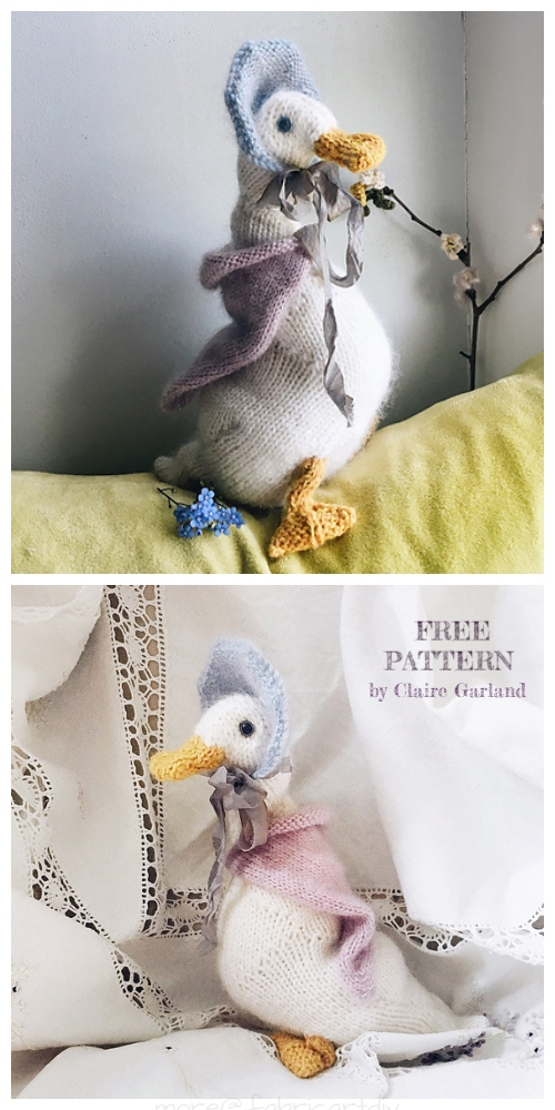 Knit Jemima Duck Free Knitting Pattern