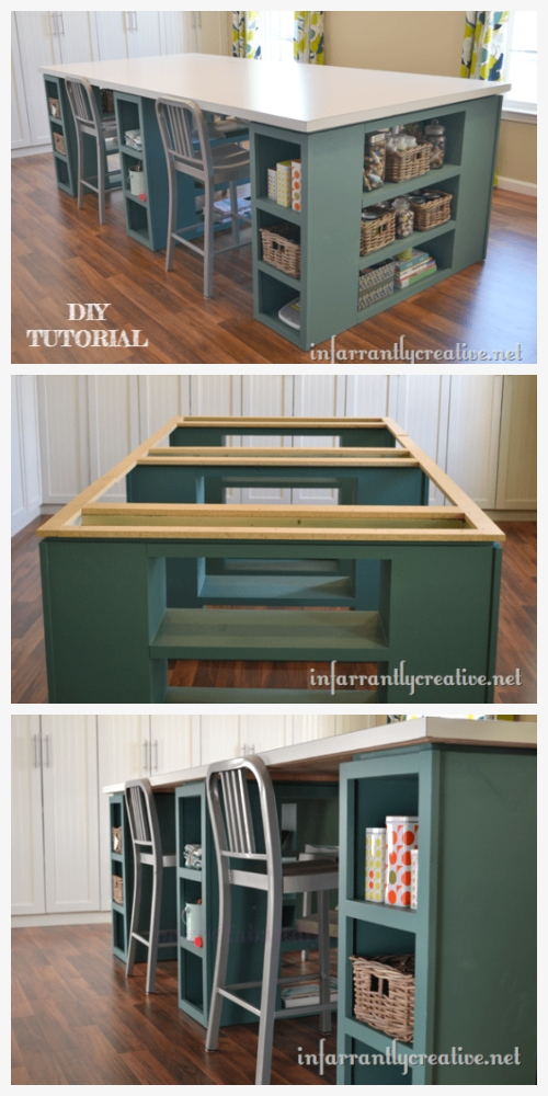 Large Craft Table DIY Tutorial