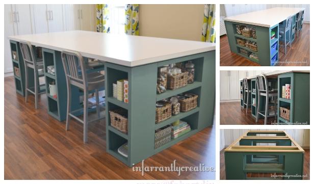 Large Craft Table Diy Tutorial Diy Magazine