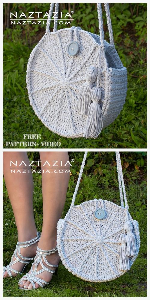 Lunaria Round Bag Free Crochet Pattern + Video