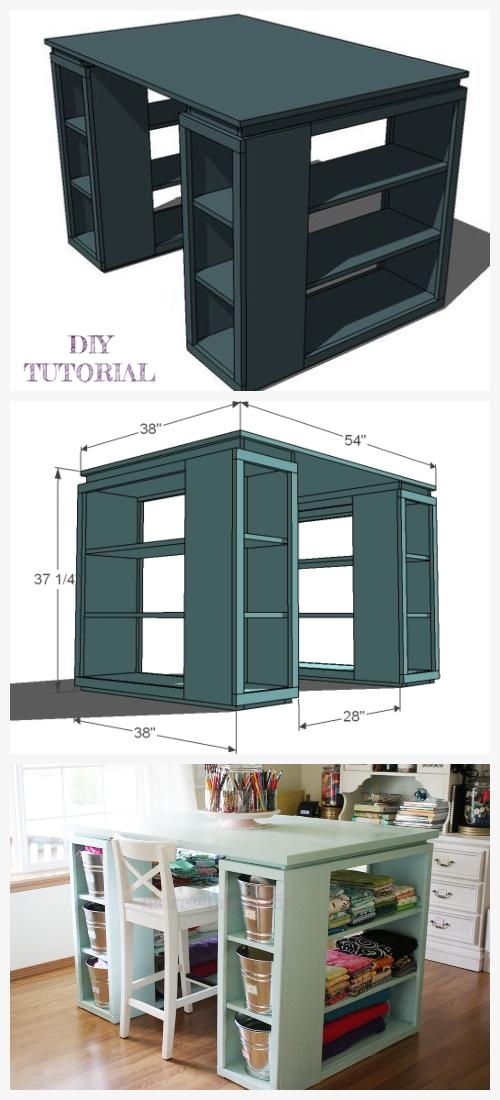 Modern Craft Table DIY Tutorial