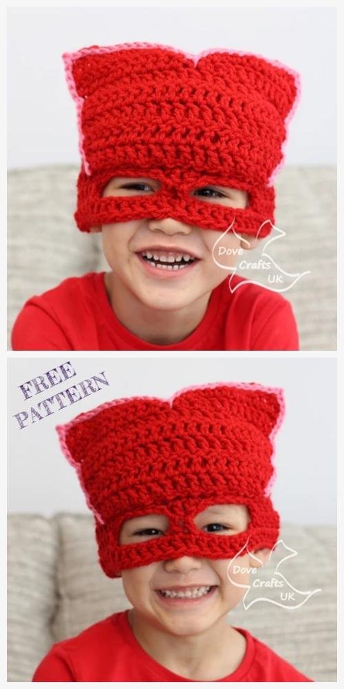 Crochet Owlette PJ Mask Hat Free Crochet Patterns