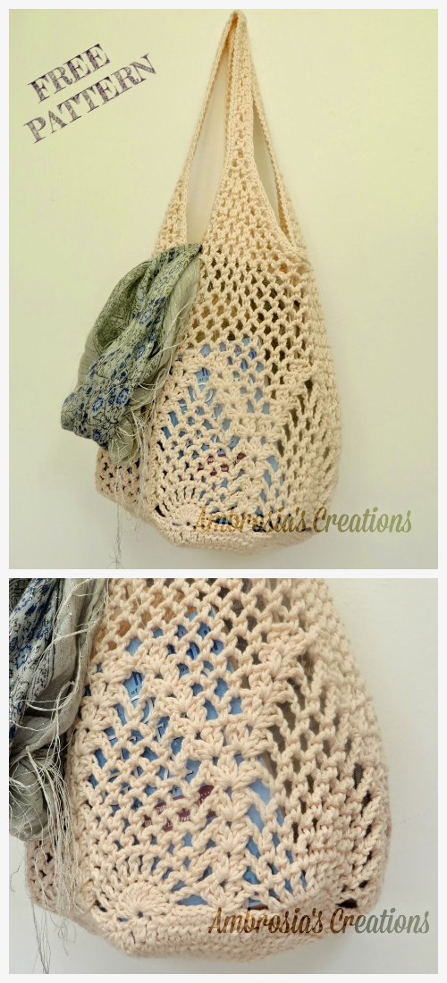 Crochet Pineapple Market Bag Free Crochet Patterns