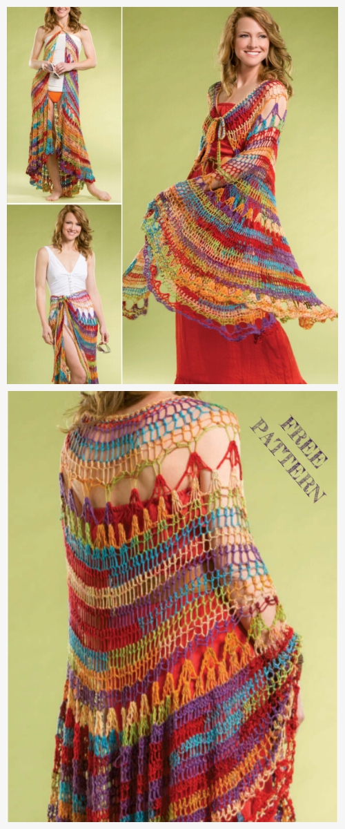 Crochet Seaside Wrap Shawl Free Crochet Pattern