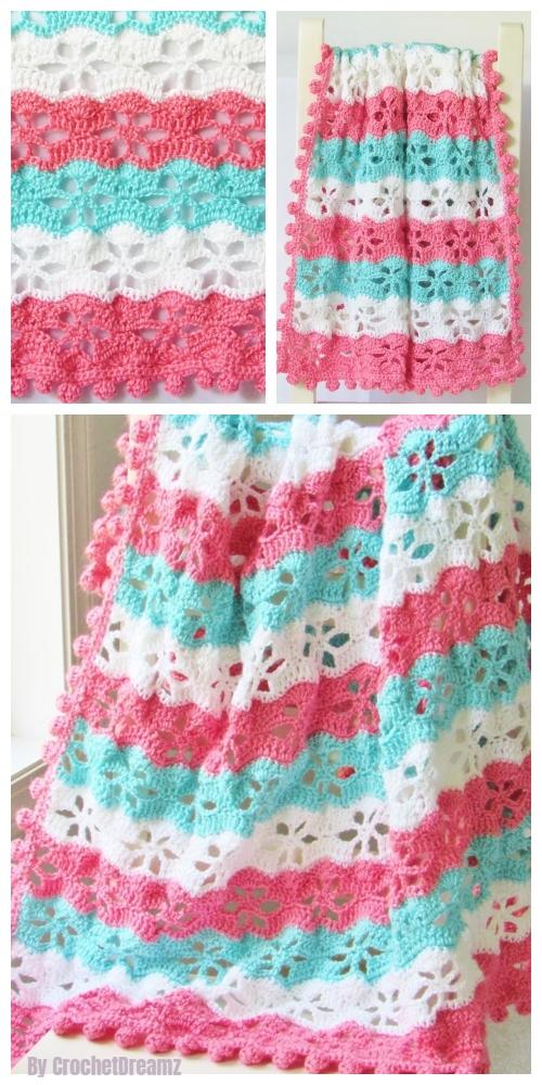 Crochet Twinkling Star Blanket Free Crochet Pattern