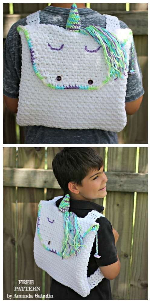 Crochet Kids Unicorn Backpack Free Crochet Pattern