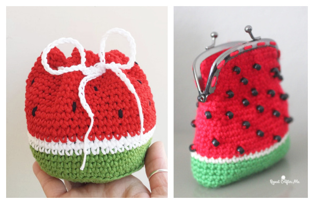 Crochet Watermelon Coin Purse Free Crochet Patterns