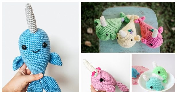 Ned and Norman Crochet Narwhal Pattern | 320x616