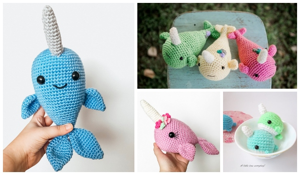 Norbert the Whale or Narwhal amigurumi pattern - Amigurumipatterns.net | 361x616