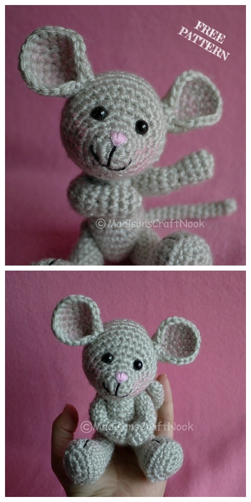Crochet Pocket Mouse Amigurumi Free Patterns