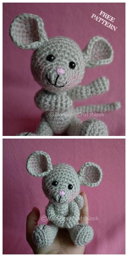 Crochet Pocket Mouse Amigurumi Free Patterns