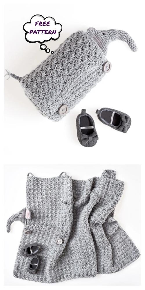 Crochet Cuddle Elephant Blanket Free Crochet Patterns