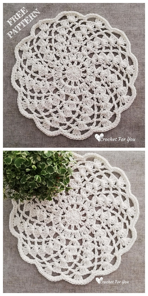 Easy Spiral Lace Doily Free Crochet Patterns