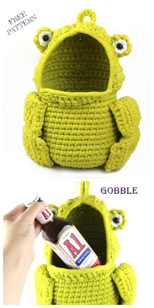 Crochet Frog Hanging Basket Free Crochet Pattern