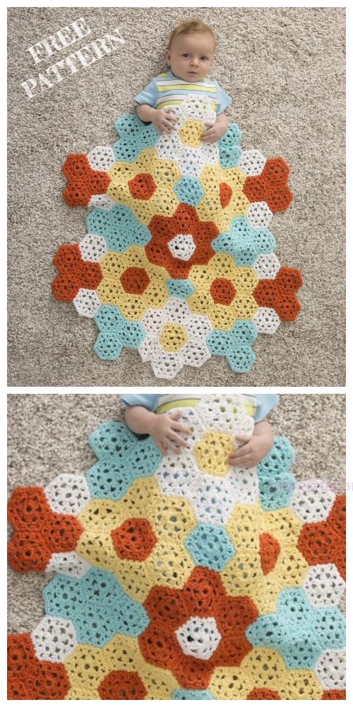 Crochet Springtime Stroller Blanket Free Crochet Pattern