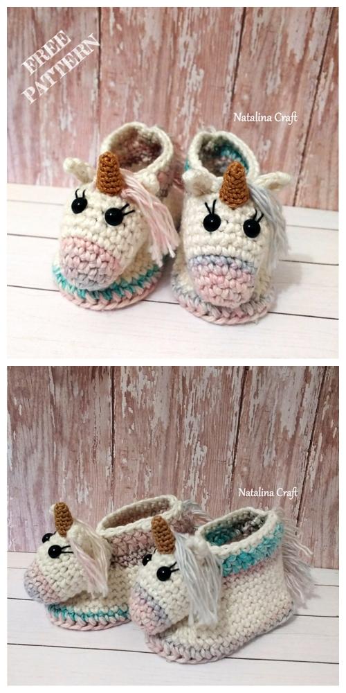 Crochet Unicorn Baby Booties Free Crochet Patterns