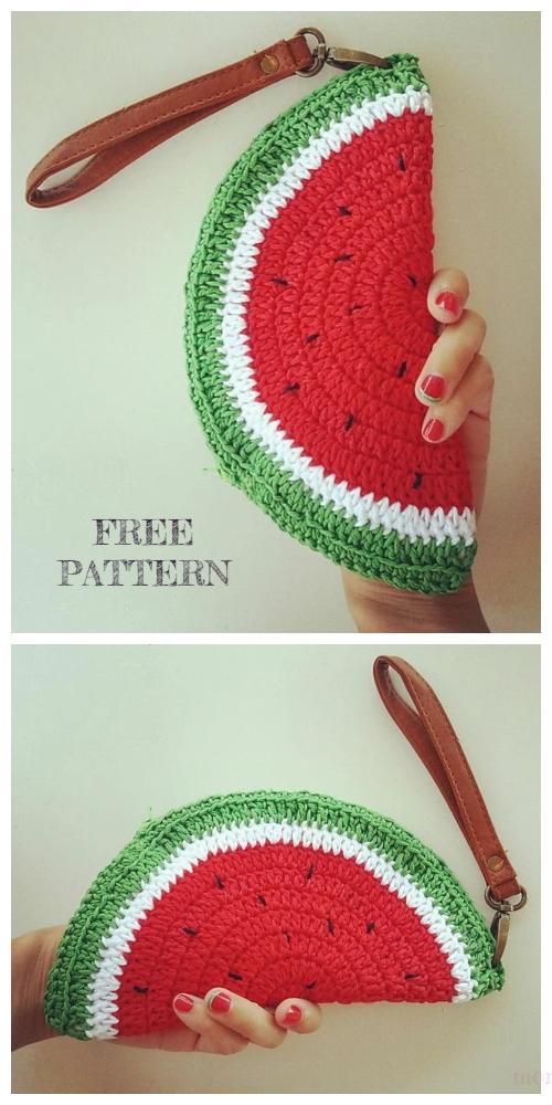 Crochet Watermelon Clutch Free Crochet Patterns