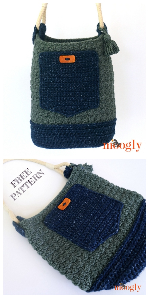 Weekend Bucket Bag Free Crochet Patterns