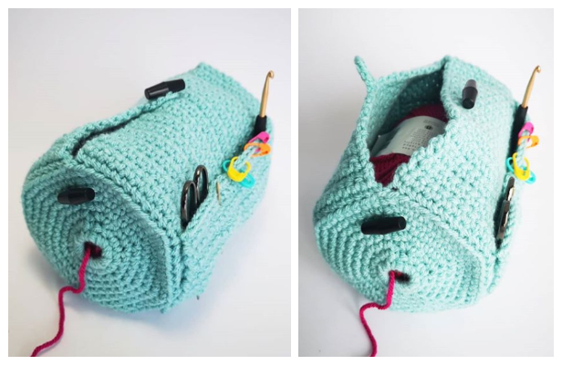 Crochet The Yarn Buddy Bag Free Crochet Pattern + Video