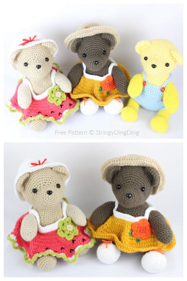 Crochet Dress Up Bear Amigurumi Free Patterns