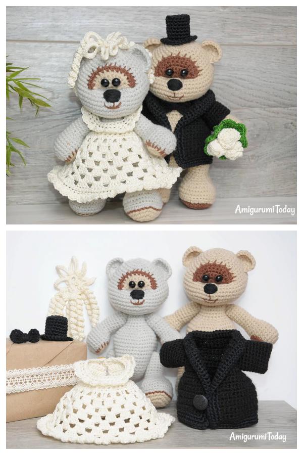 Crochet Bear Family Amigurumi Free Patterns