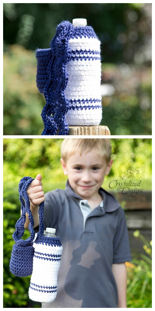 BTS Water Bottle Cozy Free Crochet Patterns